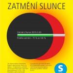 Plakát - Pozorování zatmění Slunce v Techmania Science Center Plzeň