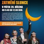 Plakát - Pozorování zatmění Slunce na Hvězdárně Vsetín